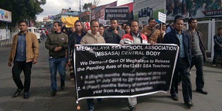 File image (Meghalaya SSA teachers' protest)