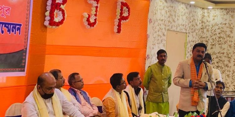 Assam BJP chief Ranjeet Dass was on a visit to south Assam to assess the preparations for the ensuing election.