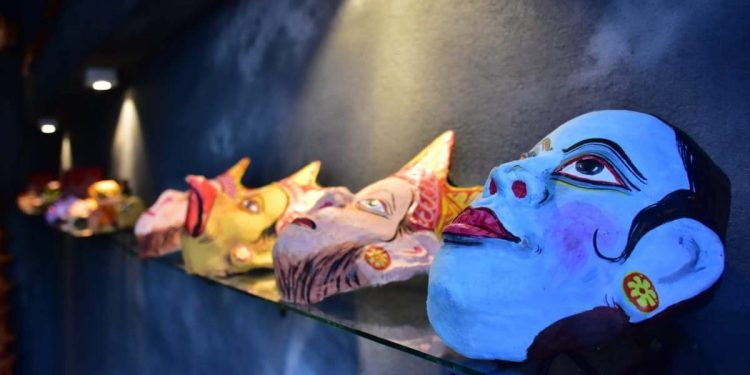 mask gallery at Mask gallery at Barna Kutir Artists Village