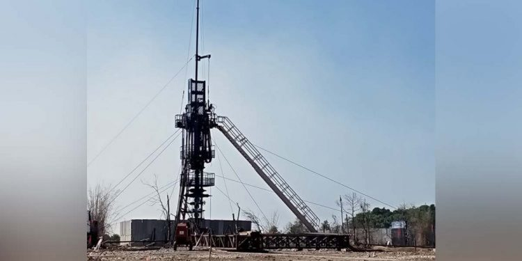 Well no 5 of Baghjan oilfields has finally been abandoned.