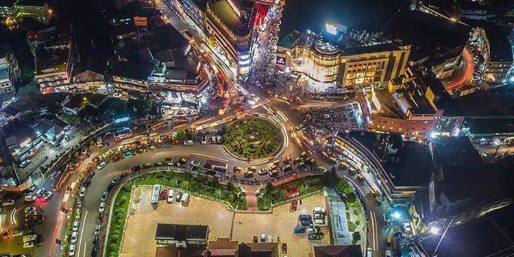 Ariel view of Police Bazar, Shillong