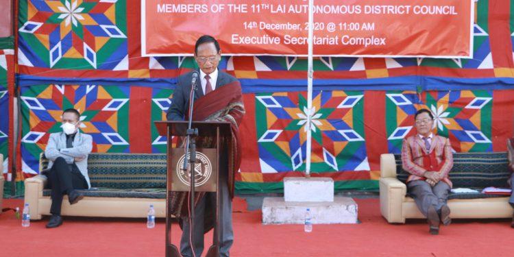 Mizoram: Manghmunga Chinzah sworn-in as new Lai Autonomous District Council CEM 1