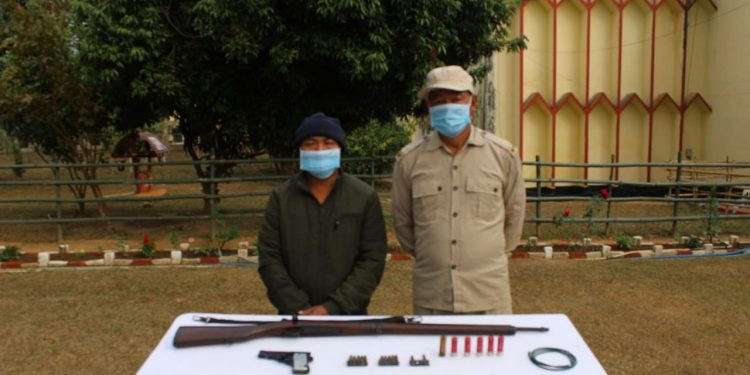 Nagaland: Suspected militant held with arms 1