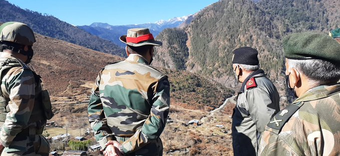 Rawat arrived in Arunachal Pradesh on Saturday to review the security preparedness.