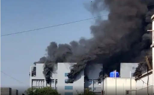The fire was reported at a building near the Terminal 1 gate of the institute.