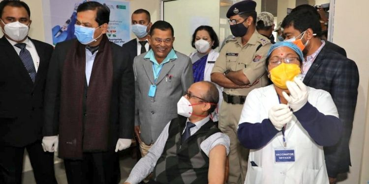 Assam: Doctor gets first shot of Covid-19 vaccine as CM Sonowal launches drive 1
