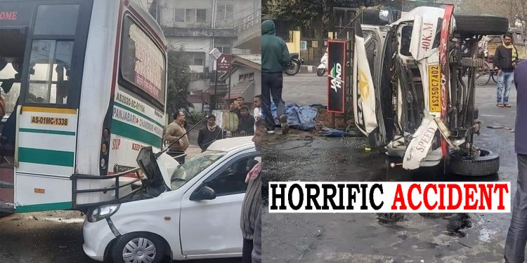 Guwahati: At least 4 persons including 6-year-old child injured in road accident 1