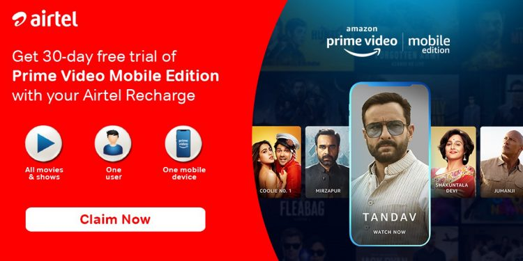 Airtel launches Amazon Prime Video Mobile Edition plans in India 1