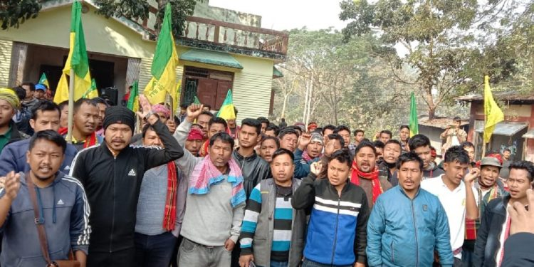 Tripura: IPFT's 'Tipraland' demand march underway, rally enters Day 5 1