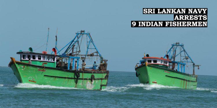 Sri Lankan Navy 'pelts stones', arrests Indian fishermen 1