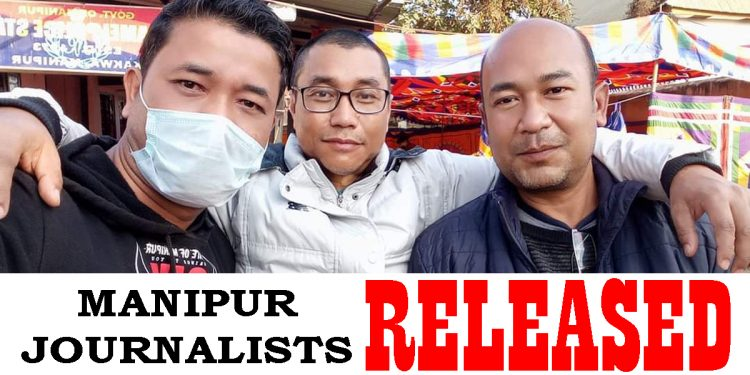 'Detained' Manipur journalists released by police 1