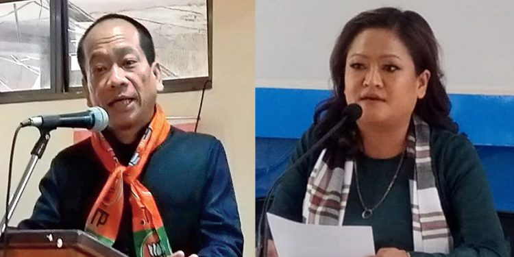 Left: Mizoram State BJP President Vanlalhmuaka, Right: K Vanlalruati