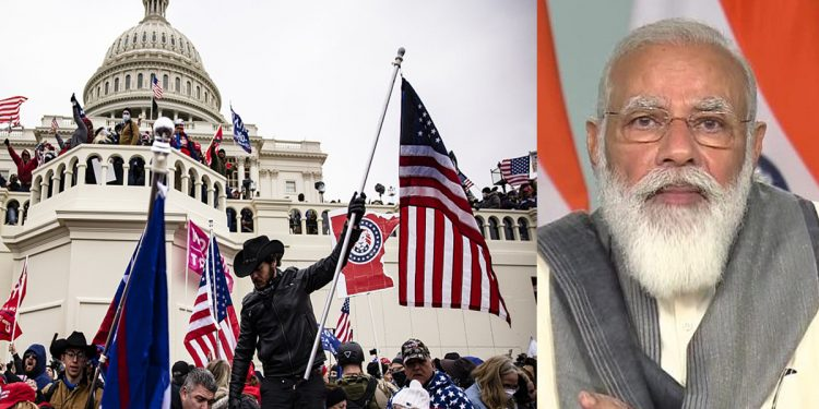 US Capitol violence: PM Narendra Modi expresses dismay, says peaceful transfer of power must continue 1