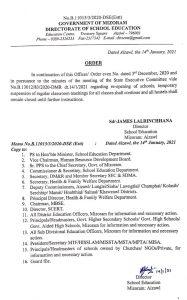 Schools, hostels to remain closed in Mizoram 1