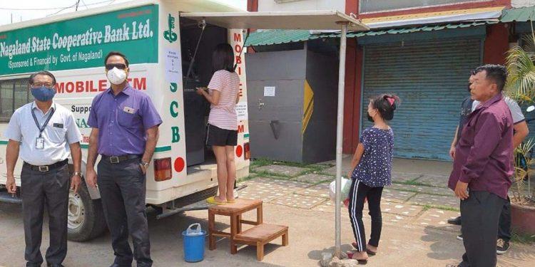 Mobile ATM service in Dimapur town