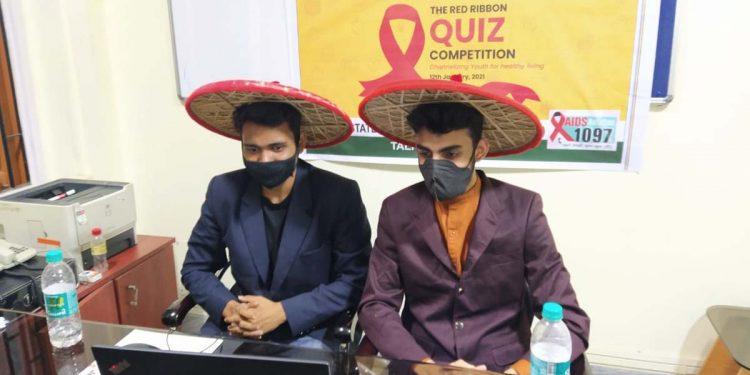 Raktim Ranjan Baishya (L) & Plawan Sarma from Cotton University