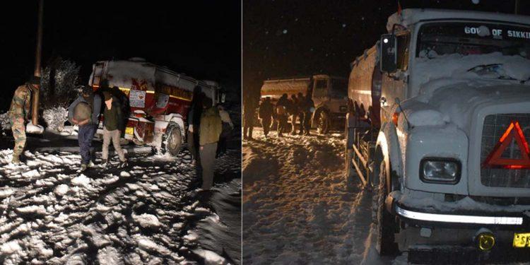 snow-hit Sikkim