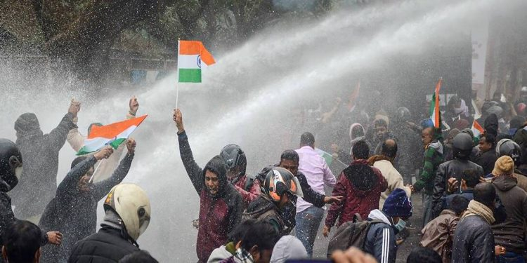 Clashes with protesters: Police book 12 Tripura teachers 1