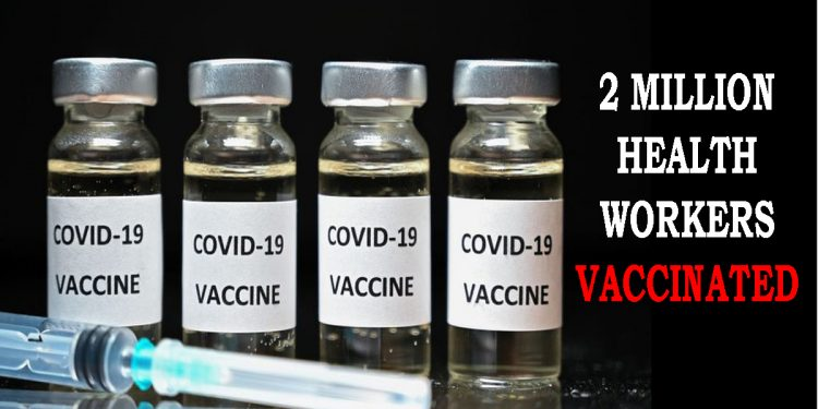 2 million health workers vaccinated against COVID-19 in India in less than two weeks 1