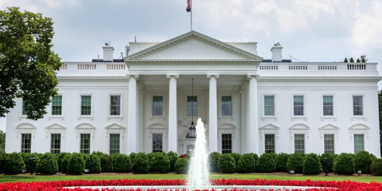 A view of the North Portico of the White House (Official White House Photo by Joyce N Boghosian)