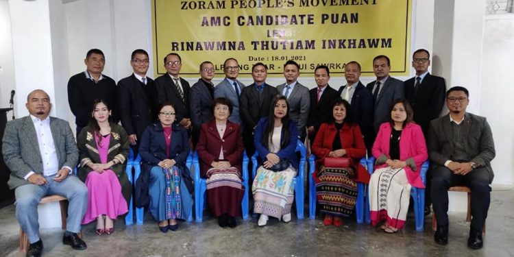 ZPM vice president K. Sapdanga announced the names of 19 candidates, including six women for the reserved seats.