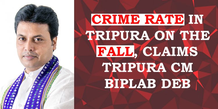 Tripura: 22 percent decline in crime rate of State, claims Chief Minister Biplab Deb 1
