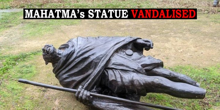 Father of the Nation disrespected: Mahatma Gandhi's statue vandalised in US 1