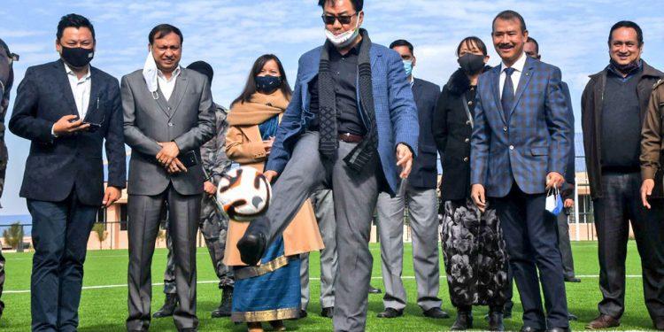 Meghalaya: Kiren Rijiju inaugurates synthetic football ground in Shillong 1