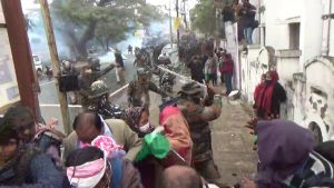 Tripura: Police lathi-charge, fire tear gas and water cannons on agitating terminated teachers in Agartala 1