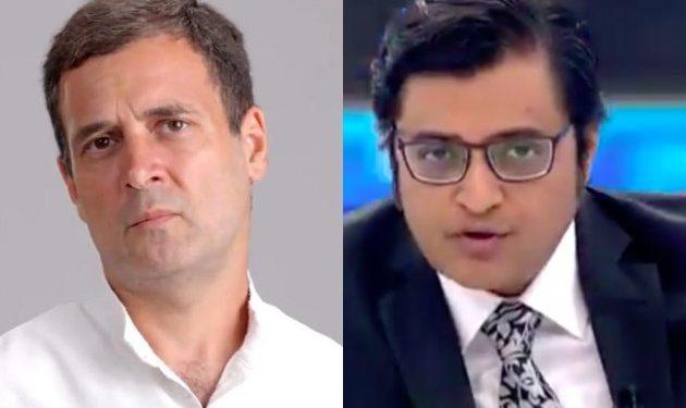 Rahul Gandhi and Arnab Goswami.