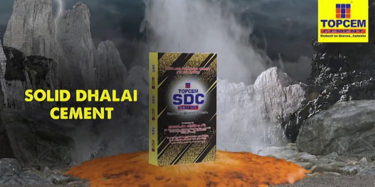 Topcem Cement's Solid Dhalai Cement defies Cement Quality