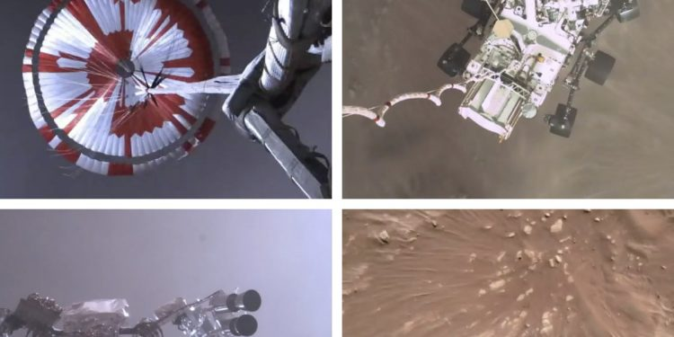NASA releases first video of rover landing on Mars 1