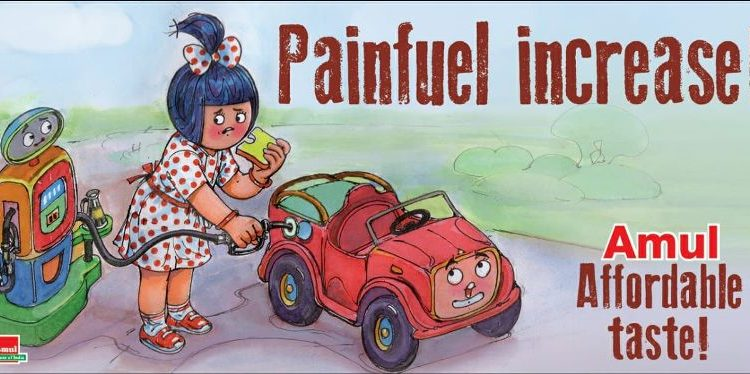 'Painfuel increase!' Amul releases topical on fuel price hike 1