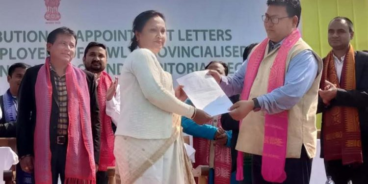 A view of the appointment letter distribution programme in Kokrajhar. Image credit - Northeast Now