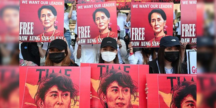 Aung San Suu Kyi military coup