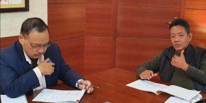 Arunachal Pradesh: Speaker reviews bridge construction work progress 1