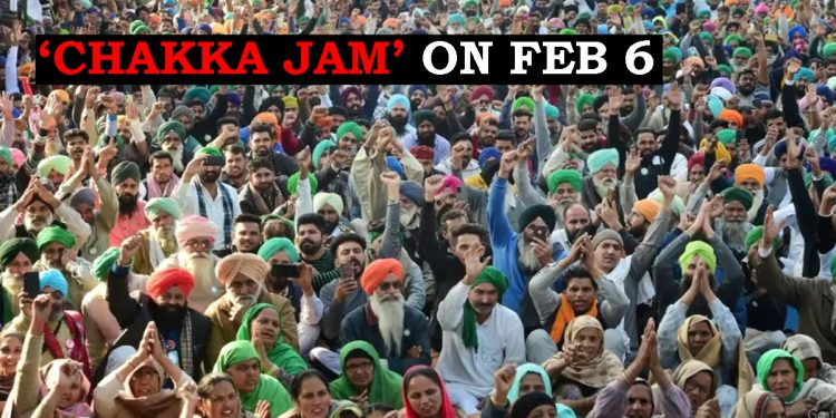 Nationwide 'Chakka Jam' called by farmers unions on February 6 1