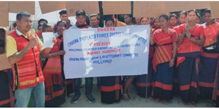 Displaced people's protest
