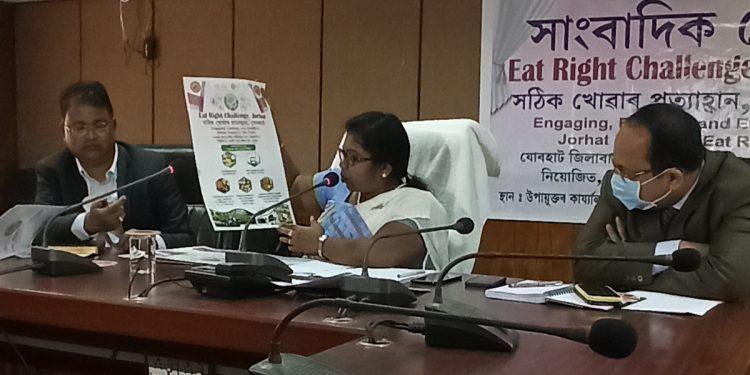Jorhat deputy commissioner Roshni A Korati addressing media pe