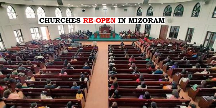 Religious places in Mizoram re-open after 11 months 1