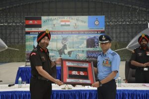 Assam Regiment, Arunachal Scouts of Indian Army sign affiliation with 106 Air Force Squadron in Tezpur 3
