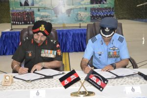 Assam Regiment, Arunachal Scouts of Indian Army sign affiliation with 106 Air Force Squadron in Tezpur 1