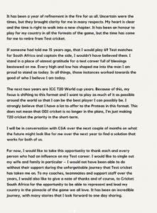 South Africa batsman Faf du Plessis retires from Test cricket 5