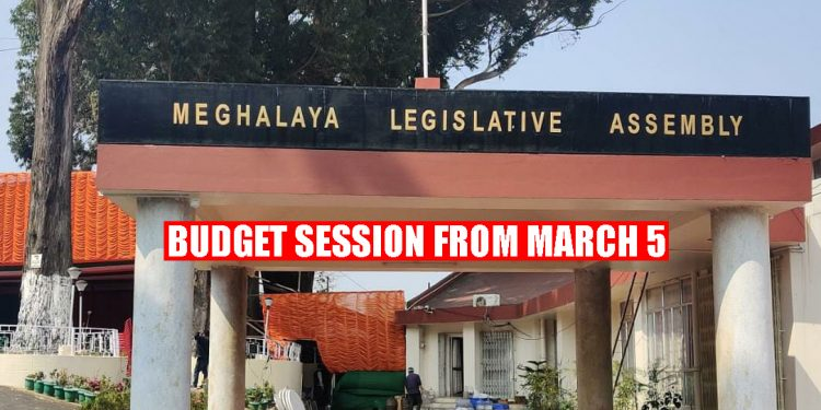 Meghalaya Budget session from March 5 1