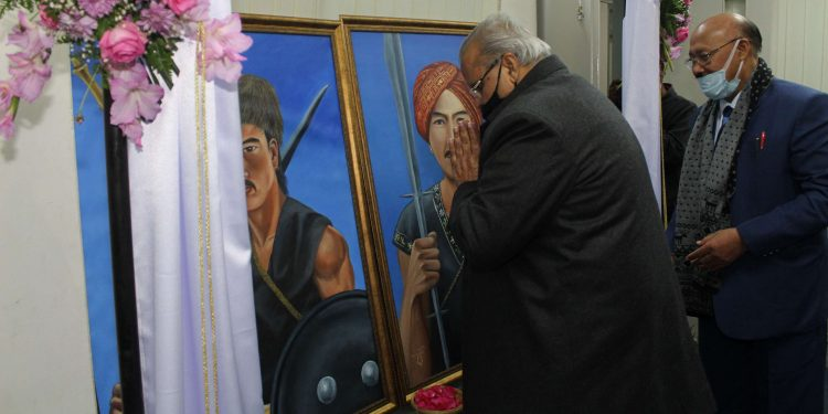 Governor, who is the Chief Rector of NEHU, visited the university and unveiled two portraits of U Tirot Sing and U Kiang Nangbah at a function in the university on Friday.