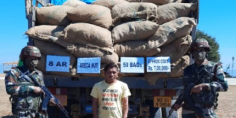 Mizoram: Areca nut worth Rs 7 lakh recovered by Assam Rifles troopers 1
