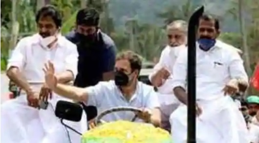 Congress leader Rahul Gandhi joins tractor rally against three farm laws 1