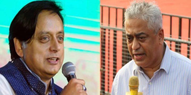 Congress MP and author Shashi Tharoor and news anchor Rajdeep Sardesai.