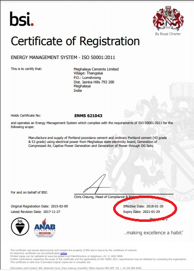 Topcem Cement shamelessly displays ISO 50001:2011 certificate even after expiry 1