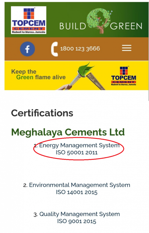 Topcem Cement shamelessly displays ISO 50001:2011 certificate even after expiry 2